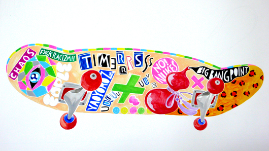 D.I.Y. Skateboard NO! NUKES by EOPLE