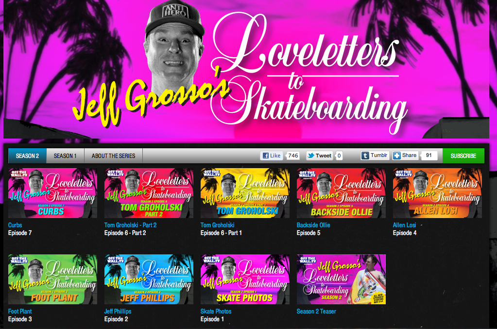 Jeff Grosso's Loveletters to Skateboarding